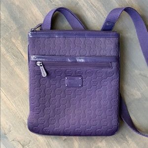 Authentic Michael Kors Purple Neoprene Crossbody